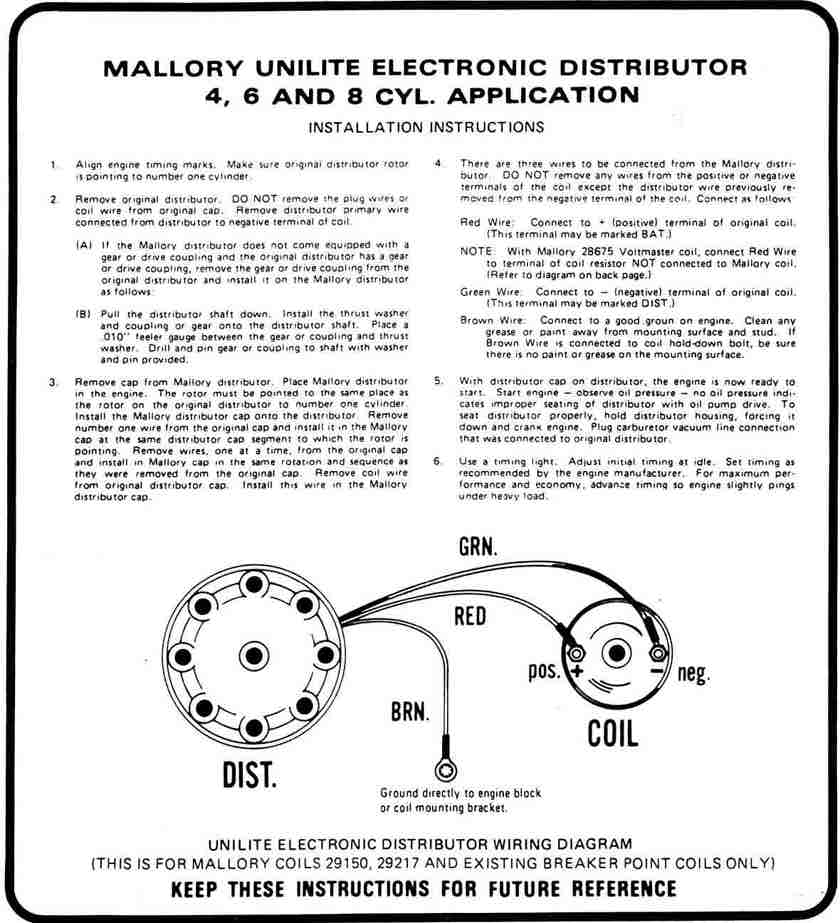 MalloryP1 mallory unilite hook up\u003cbr\u003e for 72 datsun 240z mallory ignition wiring diagram at webbmarketing.co