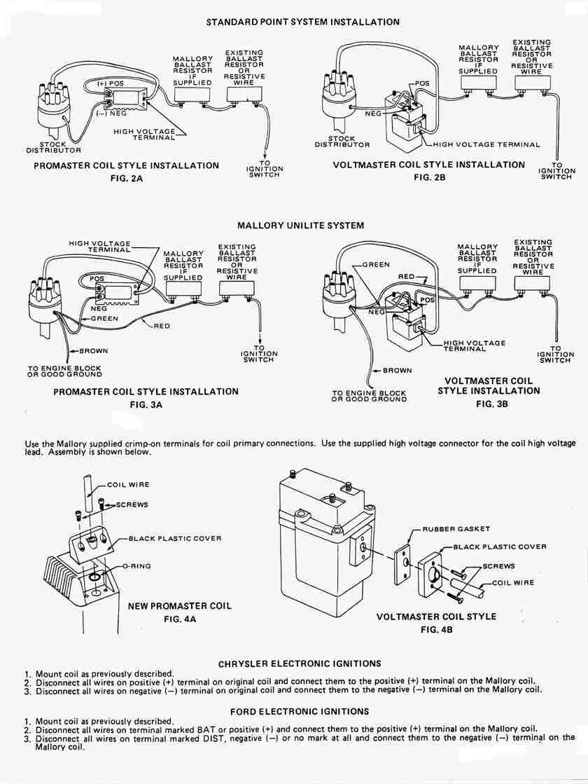 Tech Mallory Unilite Ballast Resistor Wiring Diagram Guide And Ignition Digital Motorcycle For Library Chevy Electronic Coil Wire